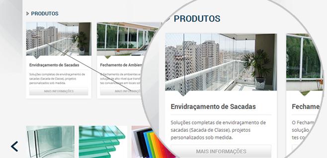 Reformulação de Site - Serviços - site Clacci Vidros
