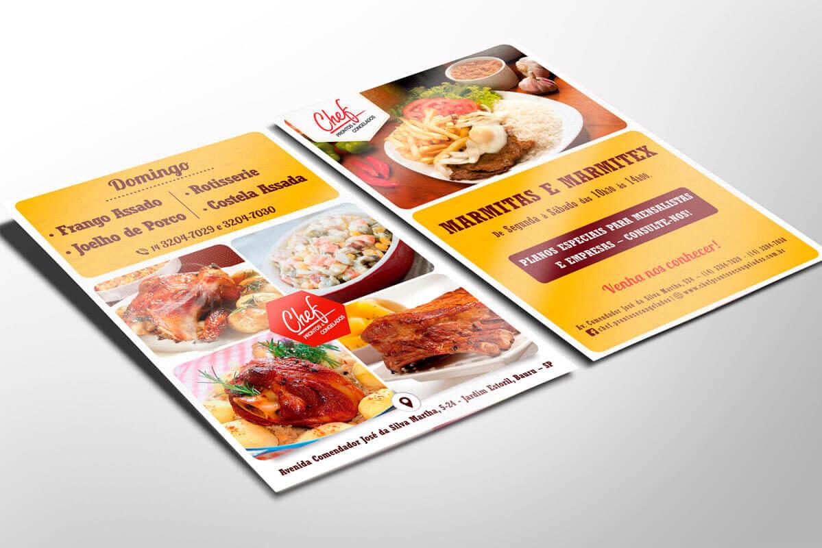 Portfolio Identidade Visual Chef Prontos e Congelados