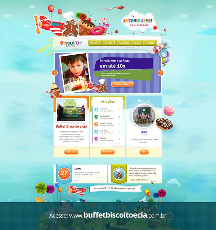 Portfolio Site Buffet Biscoito Antônio Alves