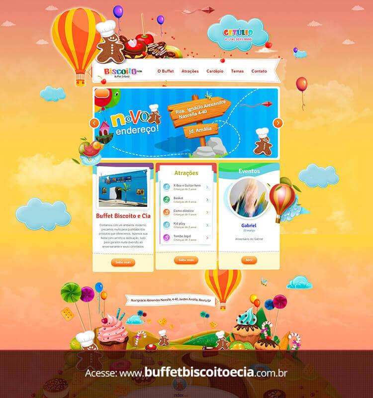 Portfolio Site Buffet Biscoito Getúlio