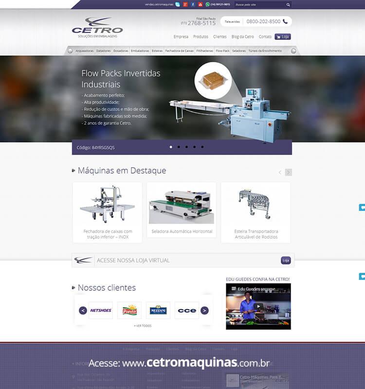 Portfolio Site Cetro Máquinas