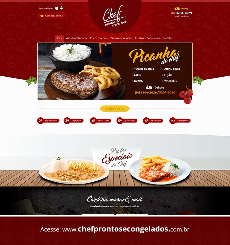 Portfolio Site Chef Prontos e Congelados