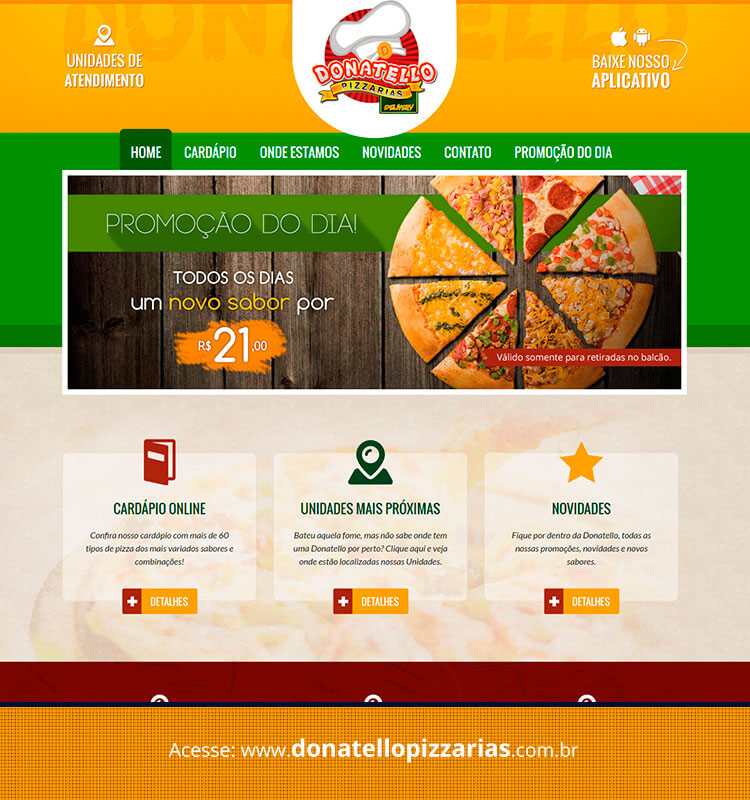 Portfolio Site Donatello Pizzarias