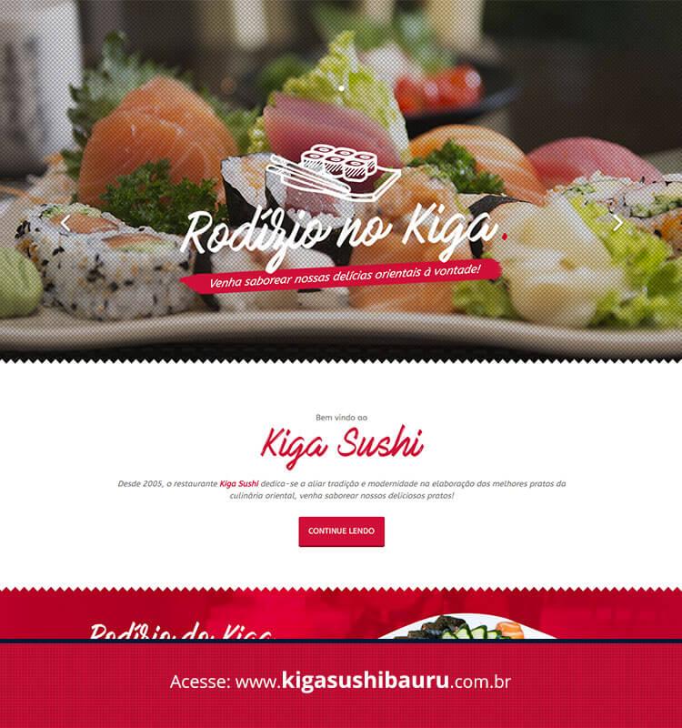Portfolio Site Kiga Sushi Bauru