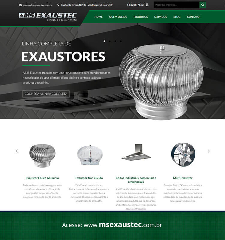 Portfolio Site MSExaustec