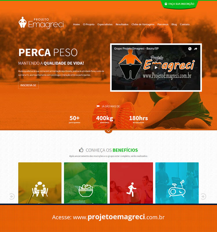 Portfolio Site Projeto Emagreci