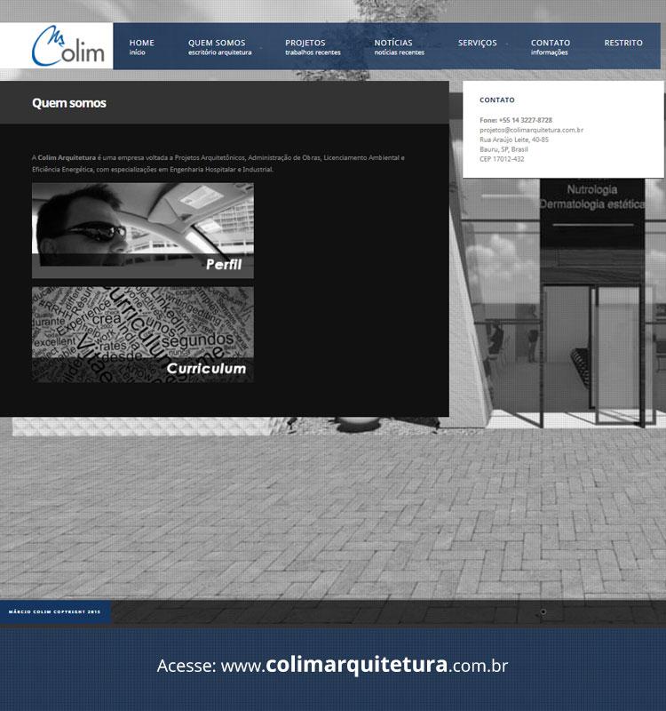 Portfolio Site Colim Arquitetura