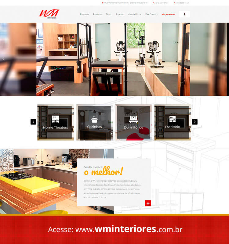Portfolio Site WM Interiores