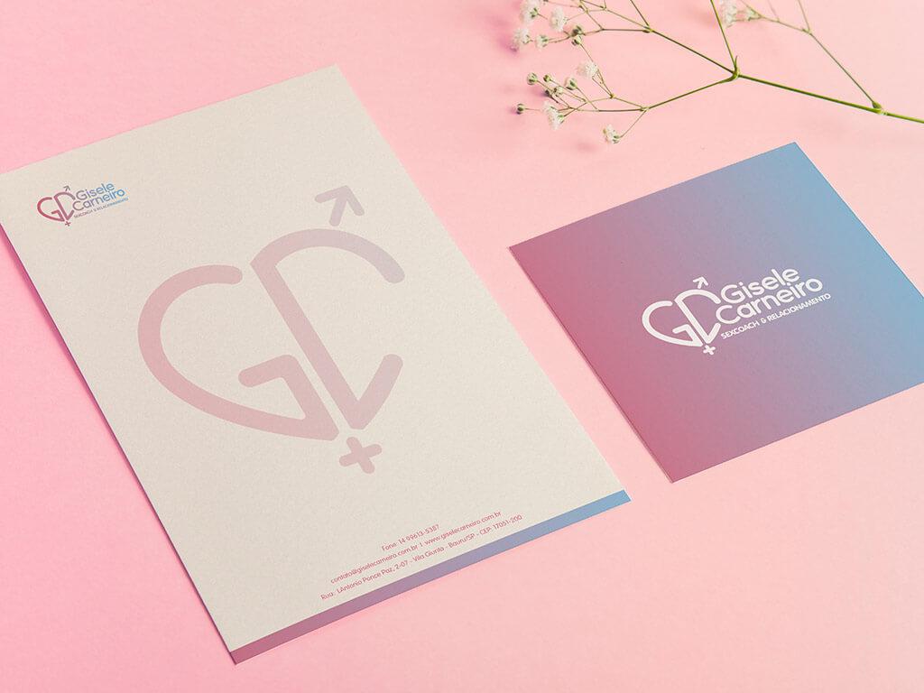 Portfolio Identidade Visual Gisele Carneiro Coaching de Relacionamentos e Sex Coaching