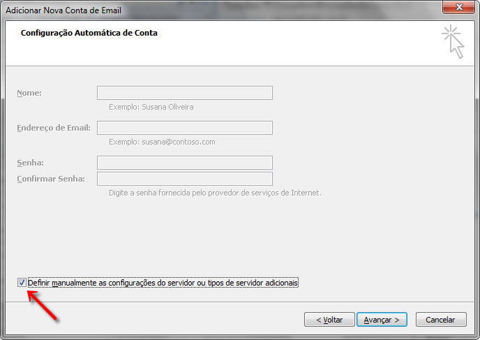 Passo 03 - Configuração de E-mail Outlook 2007