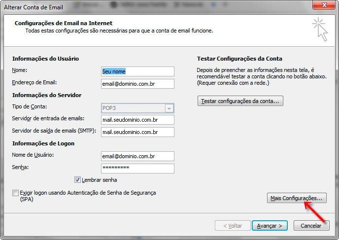 Passo 05 - Configuração de E-mail Outlook 2007
