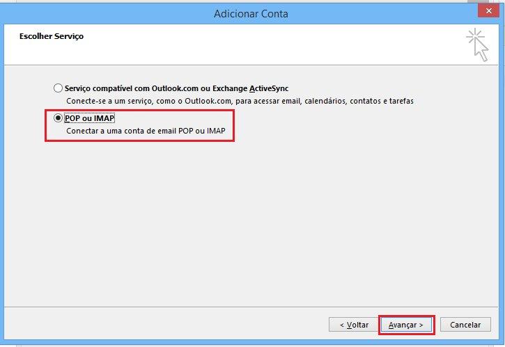 Passo 04 - Configuração de E-mail Outlook 2016
