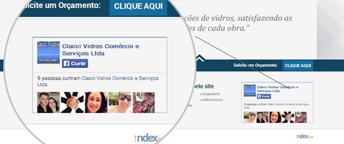Reformulação de Site - rodapé - site Clacci Vidros