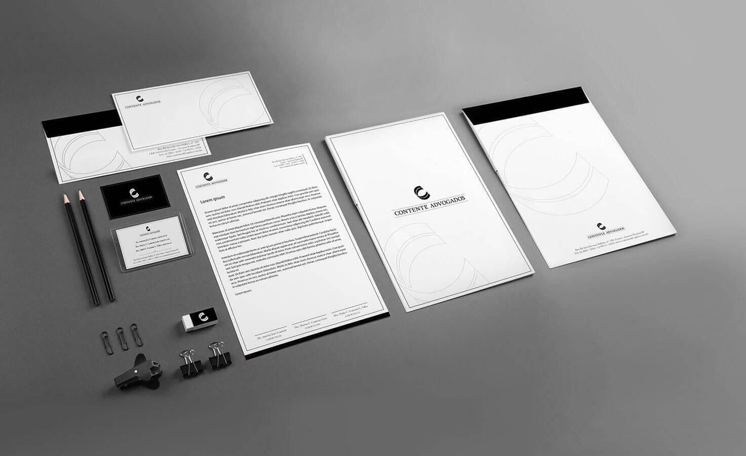 Portfolio Identidade Visual Contente Advogados