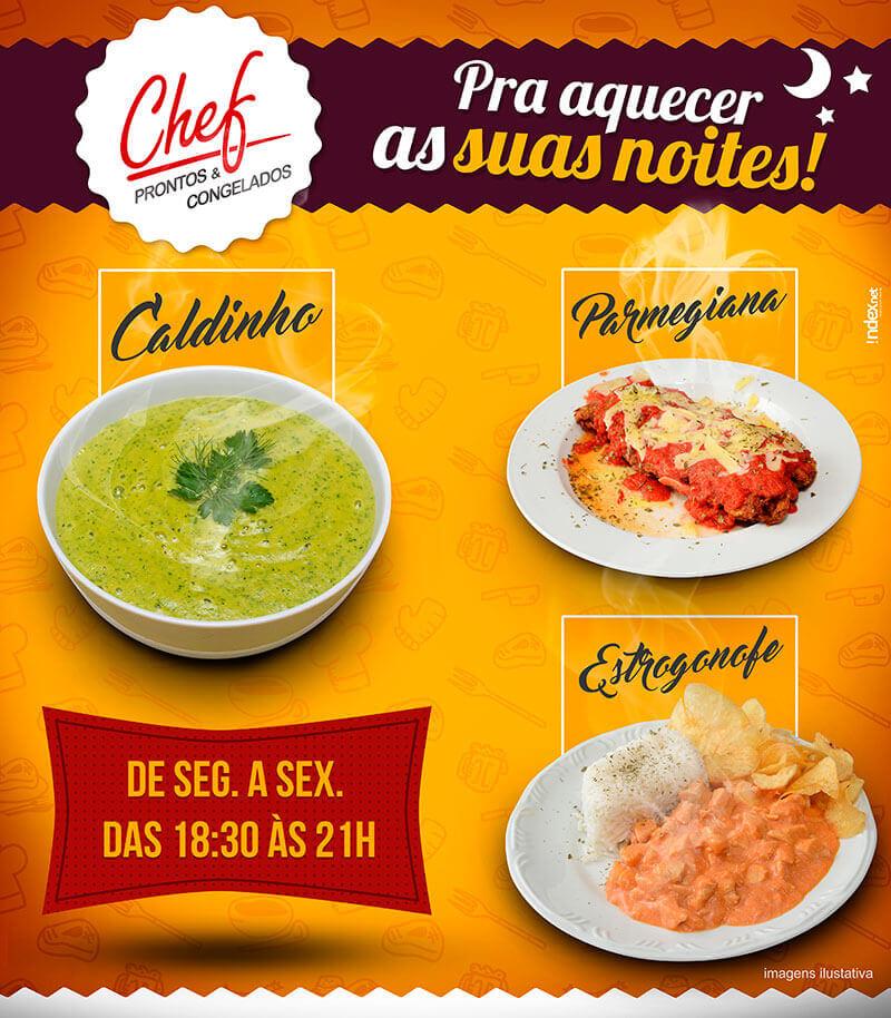 Portfolio Facebook Chef Prontos e Congelados