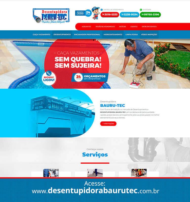 Portfolio Site Desentupidora Baurutec