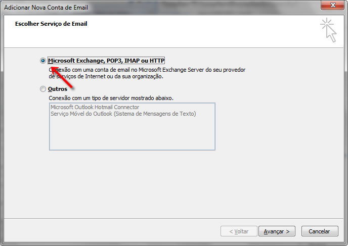 Passo 04 - Configuração de E-mail Outlook 2007