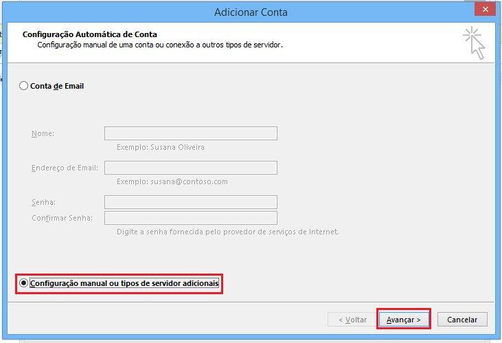 Passo 03 - Configuração de E-mail Outlook 2016